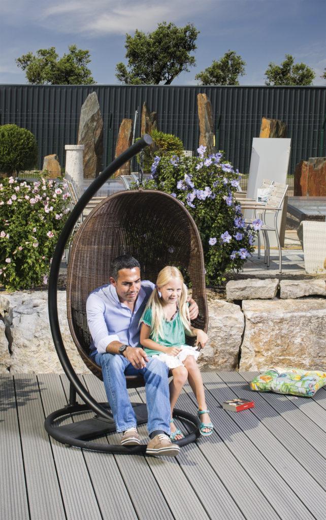 TREND 16x163mm graphit genutet – Vater & Tochter