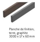 Planche de finition terre et graphite